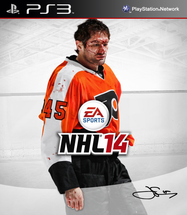 NHL 14 PS3 Jody Shelley