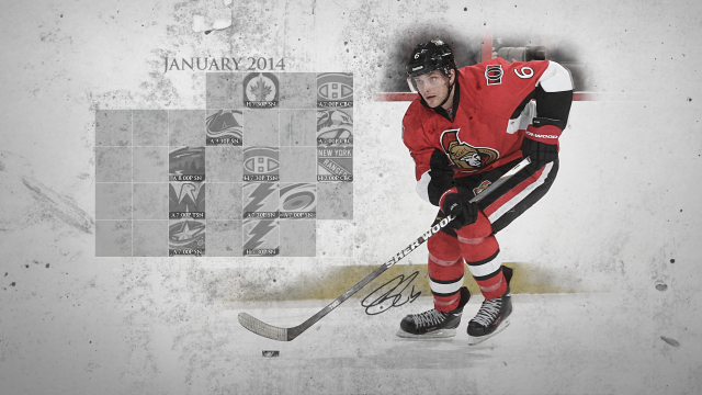 January 2014 Senators Calendar Wallpaper