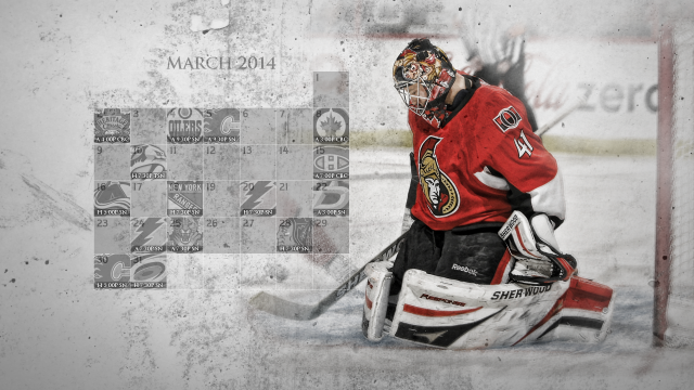 March 2014 Senators Calendar Wallpaper