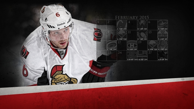 2015-02 Senators Calendar Wallpaper